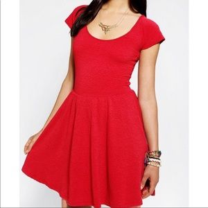 Coral/red sparkle & fade dress